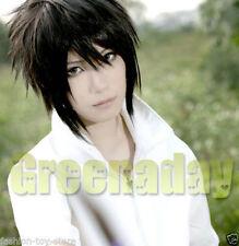 Cosplay Uchiha Sasuke Black Short Straight Anime Wig Spiky