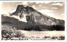 RPPC  EMERALD LAKE, British Columbia Canada  MT. BURGESS & CHALET  1946 Postcard