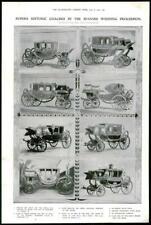 1906 Antiguo Print-España Rey Alfonso Princesa Ena Estado entrenadores histórico (351)
