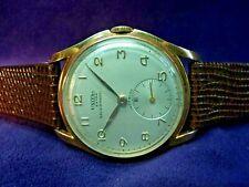 SERVICED~1940s UNITAS EXTRA~A.Reymond Swiss~15J UT 176~36mm Gold Plate Watch