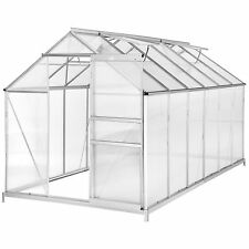 Invernadero + base ALU Policarbonato crecer plantas growhouse Jardín 11.13m³