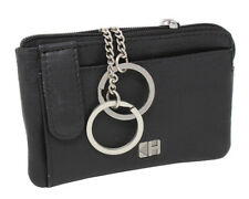 Leather Key Pouch Key Case Pouch 2 Key Rings Mini Wallet Cards Exchange
