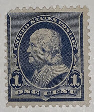 Travelstamps: 1890-1893 US Stamps Scott #219, Franklin, 2c Mint, NG