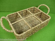 Korb 24x17cm ✿ Eckig ✿ Regalkorb Seegras Ablagekorb Schrankkorb Basket Panier