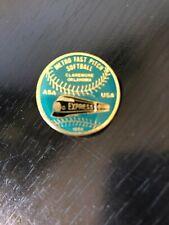 Metro Fast Pitch Softball 1996 Claremore ASA Express Pinback Lapel Pin Hat Pin