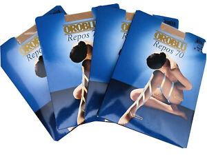 4 Packs OROBLU Repos 70 Sz Medium Nude compression pantyhose tights control top