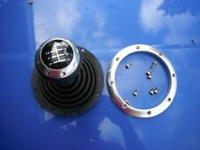 AUDI TT MK1 6 SPEED MANUAL GEAR KNOB+GAITER ALL ALLOY SILVER 1.8T V6 SPLIT