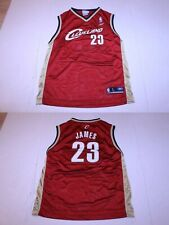 Youth Cleveland Cavs Lebron James L (14/16) Jersey (Red) Reebok (A)