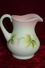 """FENTON 100 Years Collectible Glass Hand Painted Creamer - Pitcher 4 1/2"""" Tall"""