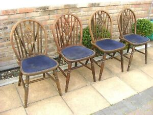 4 Heavy Wheel Back Chairs for refurb