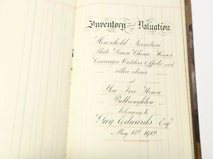 1912 Manuscript Valuation of Yew Tree House Belbroughton Guy Edwards Esq