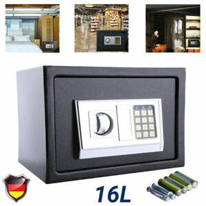 16L Elektronischer Safe Tresor Möbeltresor Geldschrank Zahlencode+ Notschlüssel