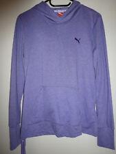Puma Marke Shirt Langarmshirt Kapuzenshirt Longsleeve lila Gr. 40 ***NEU***
