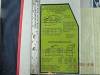 HMMWV Tie Down Information Plate AM General 5596310 / 12340318 9905-01-248-1113
