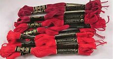 DMC Thread Cotton Floss Thread Embroidery Needlepoint Cross Stitch Red Lot 11