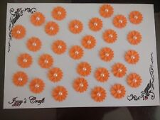 50 double white DAISY FLOWER CARD MAKING,#49,CRAFT EMBELLISHMENTS, job a lot