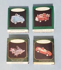 First 3 Miniature Kiddie Car Classics + Corvette ~ Hallmark Ornaments~1995 96 97