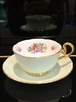Beautiful Condition Collectible Antique English Tea Cup Set by Royal Grafton.