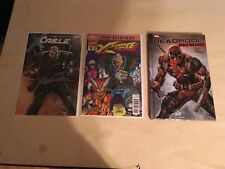 Cable 1 variant, true believers x force 1, deadpool bad blood signed by leifeld