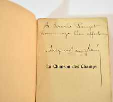 CHANSON DES CHAMPS Jacques LANGLOIS 1904 Envoi Marie ROUGET