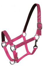 PINK Nylon Neoprene Lined PONY Size Halter w/ Glitter Overlay!! NEW HORSE TACK!