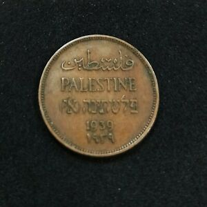 1 Mil Coin 1939 Palestinian Coins Mils Jerusalem British Palestine Israel RARE