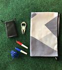 Grey Camo Golf Microfiber Towel, Divot Tool, Ball Align Tool And Titleist Bag
