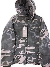 NWT Canada Goose Vetements Gray Black Label Camouflage Oversized Parka XXL Women