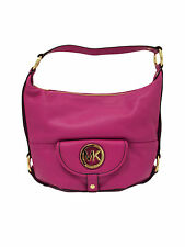 Michael Kors Fulton Large Fuschia Pink Leather Shoulder Bag - NWT