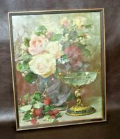 "Vintage 17x21"" Gilt Framed G. Robie ""Cupid's Goblet"" 3D Color Print - GP 5498"