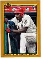 Aristides Aquino 2020 Bowman 1990 Bowman 5x7 Gold #90B-AA /10 Reds