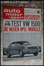 AMS Auto Motor Sport 18/66 VW Käfer 1500 Volvo 122 S Neue Opel