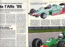 Z80 Ritaglio Clipping 1984 Euroracing Alfa Romeo 4 cilindri