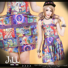 lolita cartoon fantasy Grimms' Fairy Tales Stained Glass shift dress J1M0191
