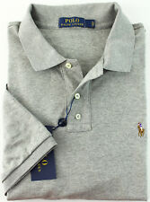 New Mens Polo Ralph Lauren Classic Fit Soft Touch Spring Heather Polo Shirt XL
