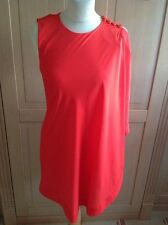 GORGEOUS TED BAKER ORANGE FITTED DRESS WITH OVER WRAP UK SIZE 8 WORN ONCE