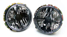 BLACK CLEAR finish Headlight WITH FADEN CROSS FOR VW Golf 1 + Cabrio