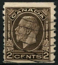 Canada 1932-3 SG#327, 2c Sepia KGV Used Imperf x P8.5 #D45515