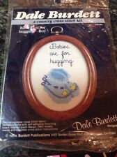 Dale Burdett Babies are for Hugging CK244 Blue Booties Country Cross Stitch L916