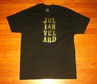 JULIAN VELARD 2012 Concert Tour T-Shirt, Men's LARGE, Black Souvenir Tee NEW