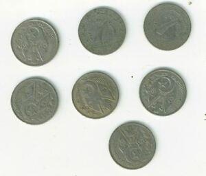 lot de 7 pieces monnaie ancienne algerie ou maroc