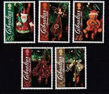 GIBRALTAR 2009 CHRISTMAS. TREE DECORATIONS SG 1342-1346  SET 5 MNH