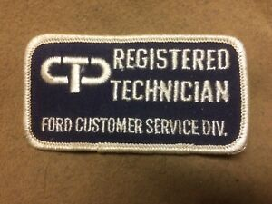 1970's Ford,Lincoln,Mercury Registered Technician Ford Customer Service patch