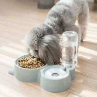 New Double Bowl Pet Water Fountain Automatic Food Feeder Dispenser Pet Supplies