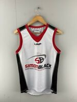 LRF Mens White Red Black  AFL Guernsey Simon Black Academy Jersey Size Small