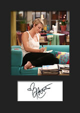 TBBT KALEY CUOCO #2 A5 Signed Mounted Photo Print (RePrint) - FREE DELIVERY