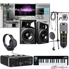 Home Recording Pro Tools Bundle Studio Package Midi 32 M-Audio Software!