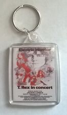 T.Rex Electric Warrior Concert Acrylic Keyring Passport image  size 45mm x 35mm