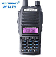 10Km Baofeng UV-82 Real 8W Walkie Talkie VHF UHF FM Ham Amateur Two-way Radios
