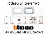Bticino Matix - PREVENTIVO supporti placche interruttori prese accessori
